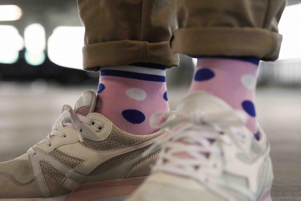 Leuke roze sokken